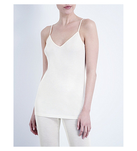 HANRO Pure silk vest top (Cream