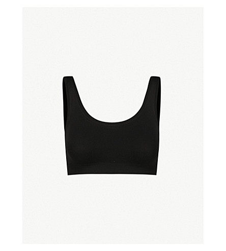 HANRO Touch Feeling vest top (Black