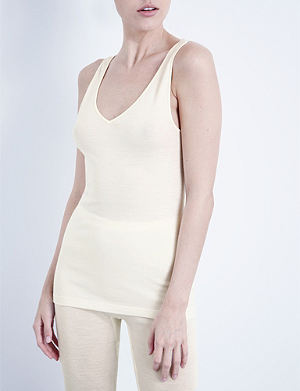 HANRO Wool and silk-blend top