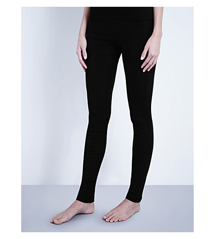 HANRO Wool and silk-blend leggings (Noir:+noir