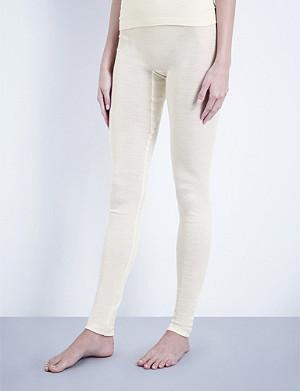 HANRO Wool and silk-blend leggings
