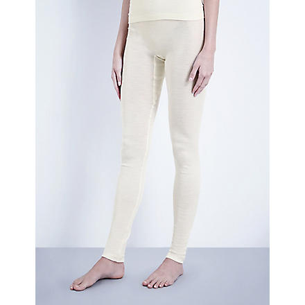 HANRO Wool and silk-blend leggings (Cyg:+cygne