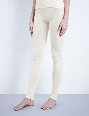 HANRO Wool and silk-blend leggings