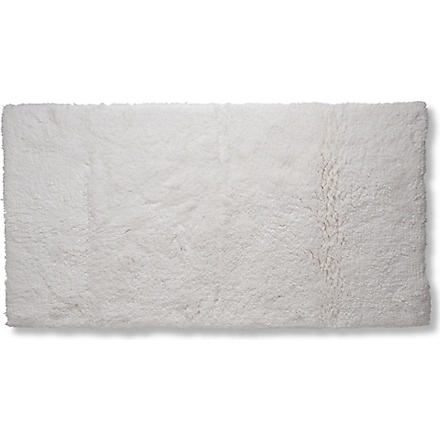 SELFRIDGES Deep pile bath mat (White