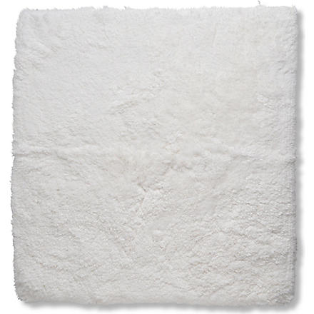 SELFRIDGES Deep pile bath mat 55cm x 55cm (White