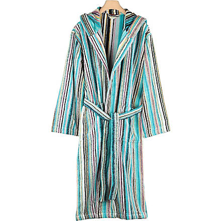 MISSONI HOME Jazz hooded robe
