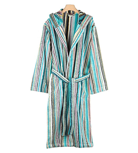 MISSONI HOME Jazz hooded robe