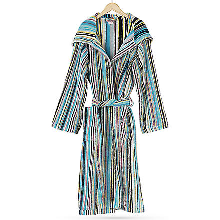MISSONI HOME Jazz hooded robe (Multi+blue
