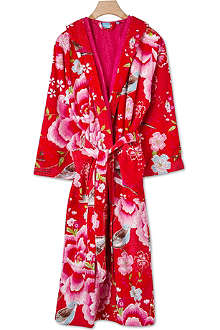 PIP STUDIO Birds of Paradise bathrobe red