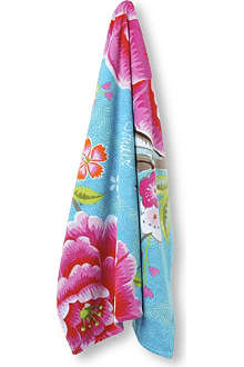 PIP STUDIO Blue Birds of Paradise beach towel