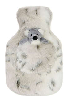 HELEN MOORE Winter Fox Pocket Pal faux-fur hot water bottle