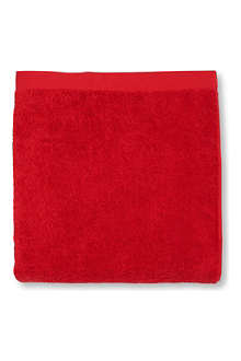 SELFRIDGES Red bath sheet