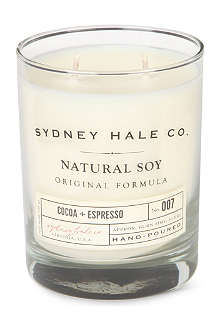 SYDNEY HALE CO. Cocoa and Espresso candle