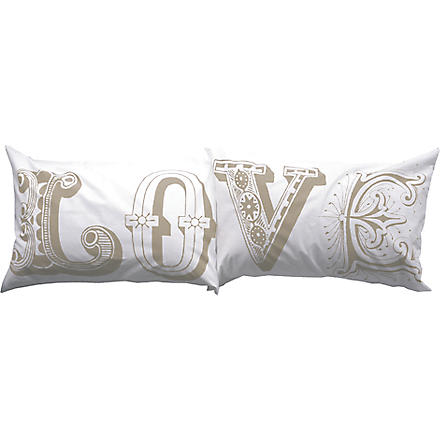 LUSH DESIGNS Love pillowcases beige