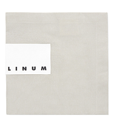 LINUM Robert linen napkin set of four