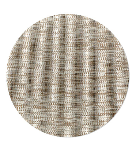 CHILEWICH Tan vinyl placemat