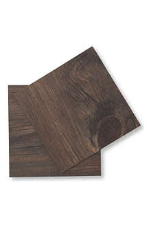 CHILEWICH Faux Bois set of six coasters