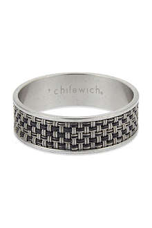 CHILEWICH Mini Basketweave napkin rings pair
