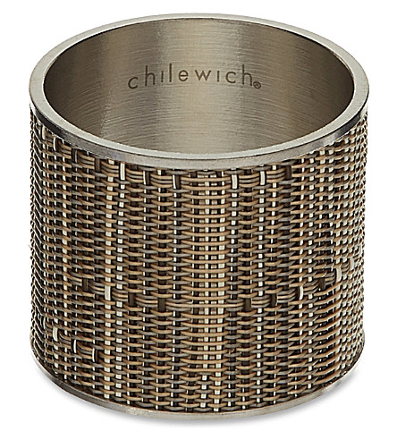 CHILEWICH Mini Basketweave napkin ring