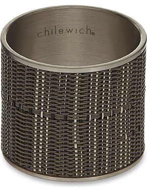 CHILEWICH Mini Basketweave napkin rings