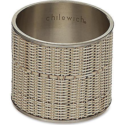 CHILEWICH Mini Basketweave napkin ring