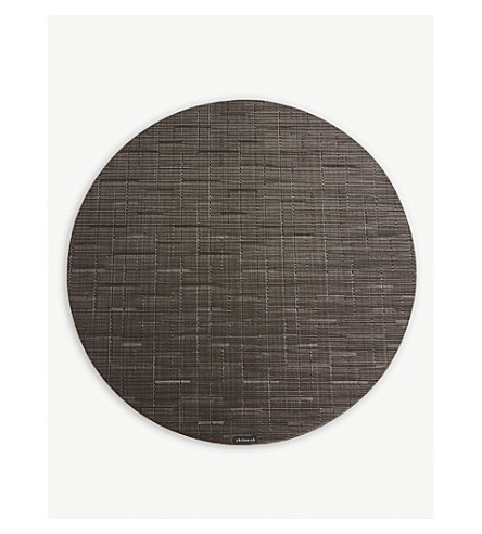 CHILEWICH Bamboo round placemat 38cm