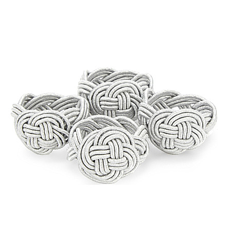 WALTON & CO. Twisted knot napkin ring set of four