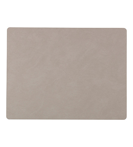 LIND DNA Square nupo light grey table mat