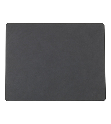 LIND DNA Square leather table mat