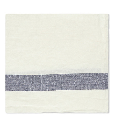 THE LINEN WORKS Striped linen napkin
