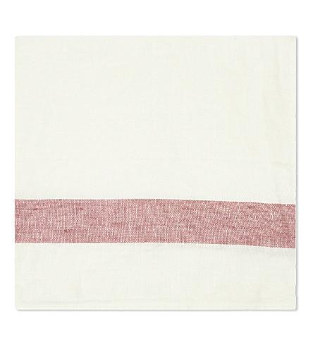 THE LINEN WORKS Striped linen napkin