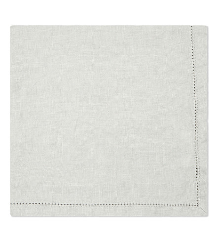 THE LINEN WORKS Hemstitch linen napkin
