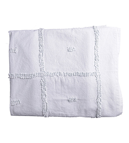 URBAN NATURE CULTURE Plaid Circles cotton blanket