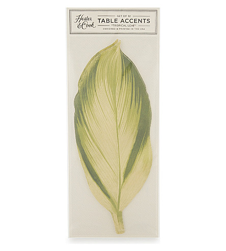 HESTER & COOK Monstera leaf paper placemat sheets (set of 12)