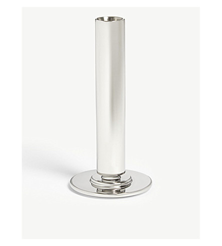 GEORG JENSEN Manhattan large stainless steel candle holder 16.5cm