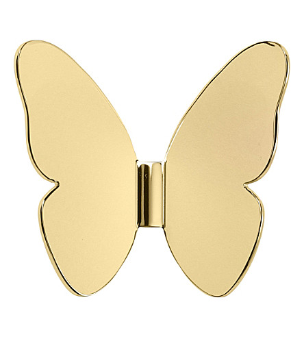 GHIDINI Richard Hutten single butterfly brass coat hook