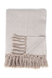 LINUM Hera natural cotton throw