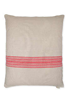 LINUM Contrast stripe cushion