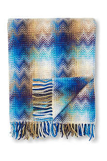 MISSONI HOME Montgomery throw multi blue