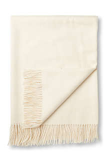BRONTE Alpaca natural cream throw