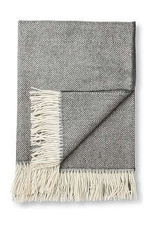 BRONTE Alpaca grey diamond throw