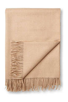 BRONTE Alpaca natural beige throw