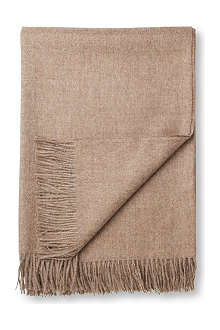 BRONTE Alpaca natural brown throw