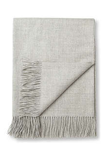 BRONTE Alpaca natural grey throw