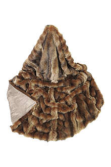 HELEN MOORE Sable faux-fur bed runner