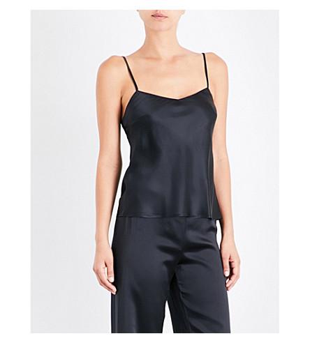 MARJOLAINE Soie Unie silk-satin camisole (Black