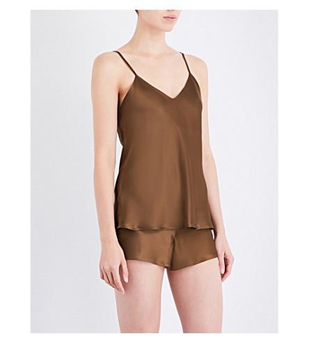NK IMODE Living-wear silk-satin pyjama shorts (Bronze