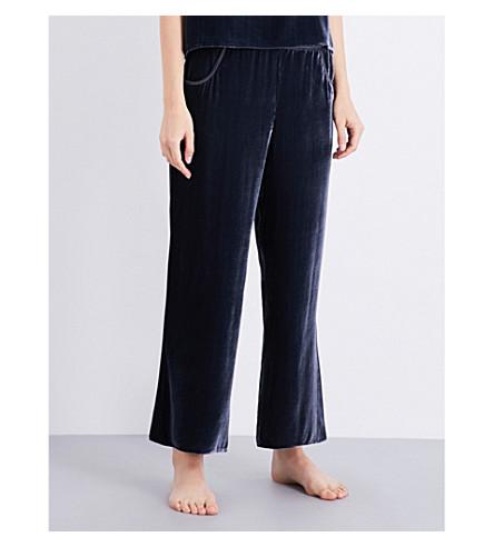 NK IMODE Satin-trims velvet trousers (Opium