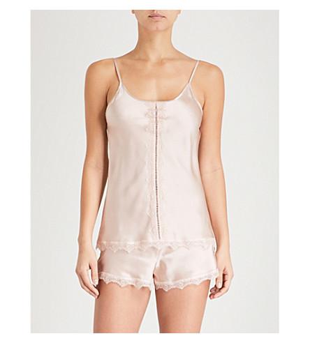NK IMODE Ulrika silk-satin pyjama shorts (Sepia