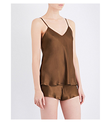 NK IMODE Living-wear silk-satin pyjama camisole (Bronze